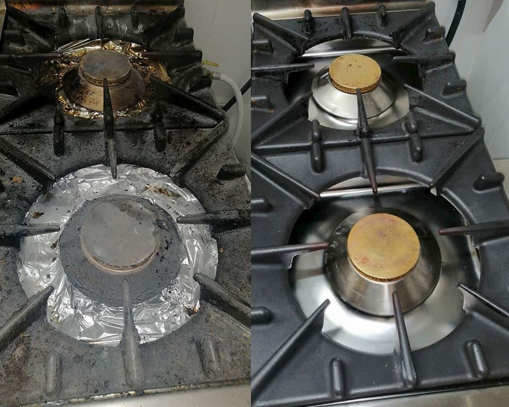 NEC+ - nettoyage en profondeur - feux vifs - avant apres